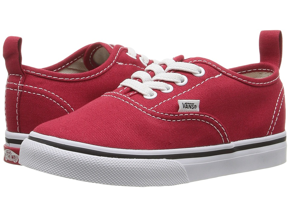 Vans Kids - Authentic Elastic Lace (Toddler) ((Elastic Lace) Racing Red/True White) Kids Shoes