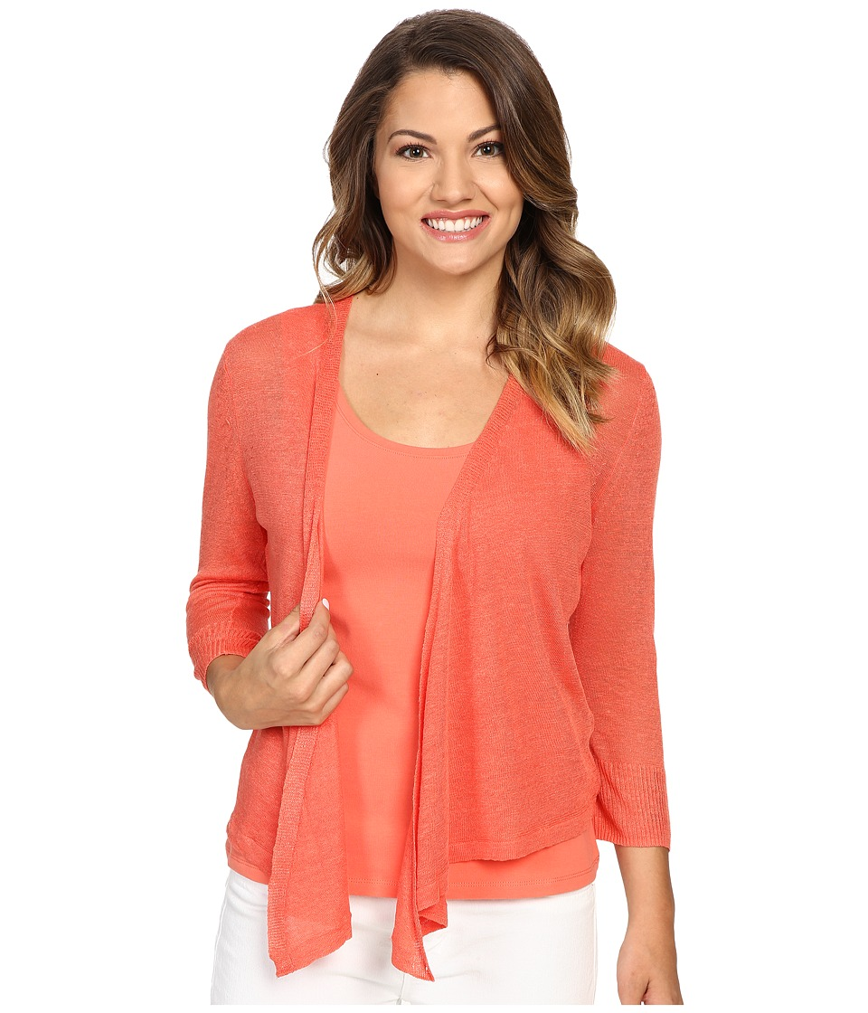 NIC+ZOE - Petite 4 Way Cardy (Coral Sun) Women's Sweater