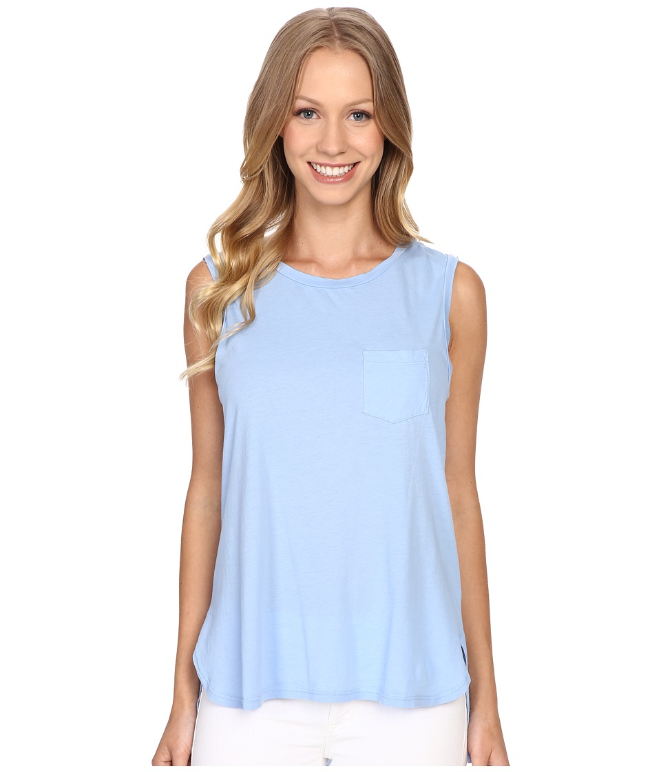 The Beginning Of - Helene Pocket Muscle Tank Top (French Blue) Women's Sleeveless