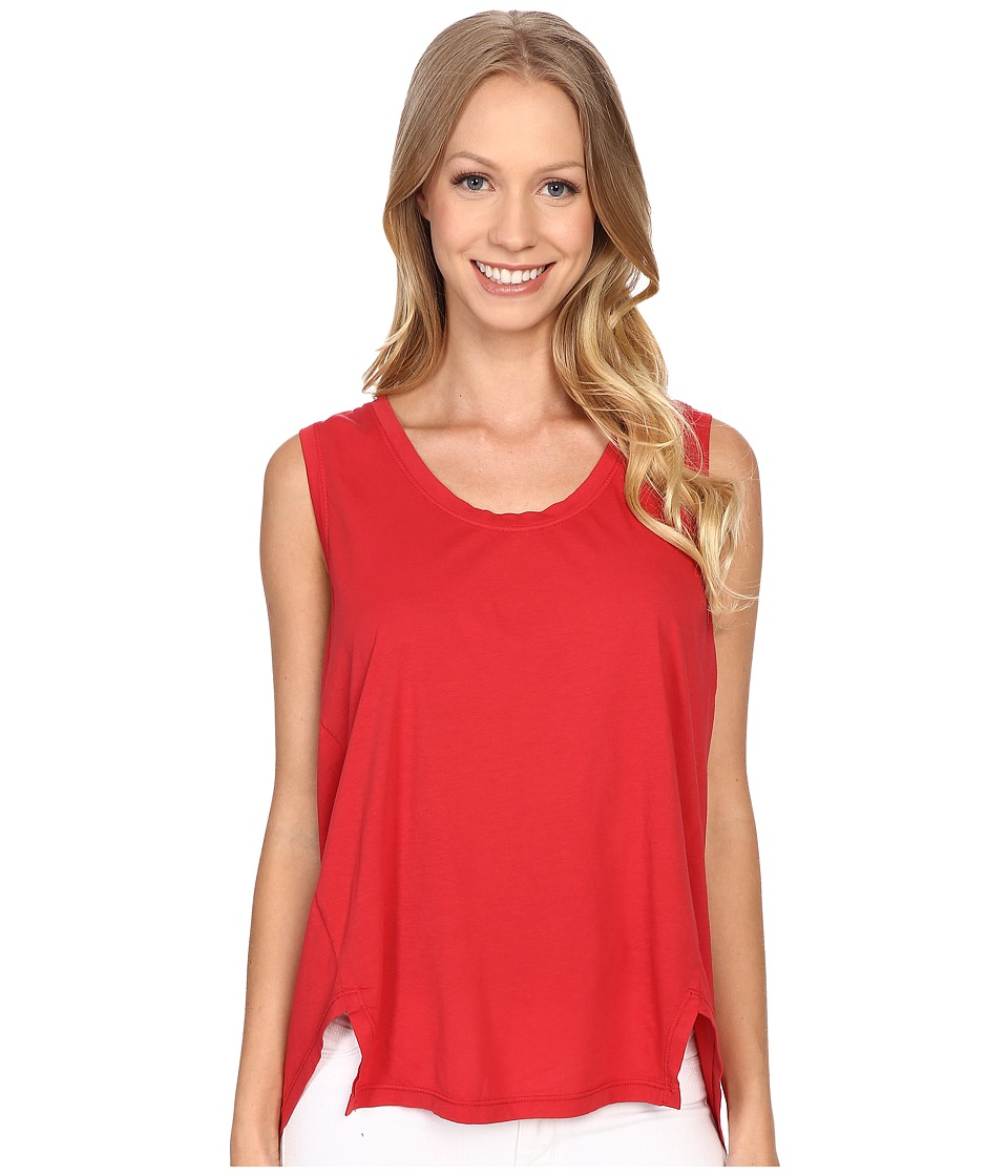 The Beginning Of - Danica Slit Hem Tank Top (Red) Women's Sleeveless