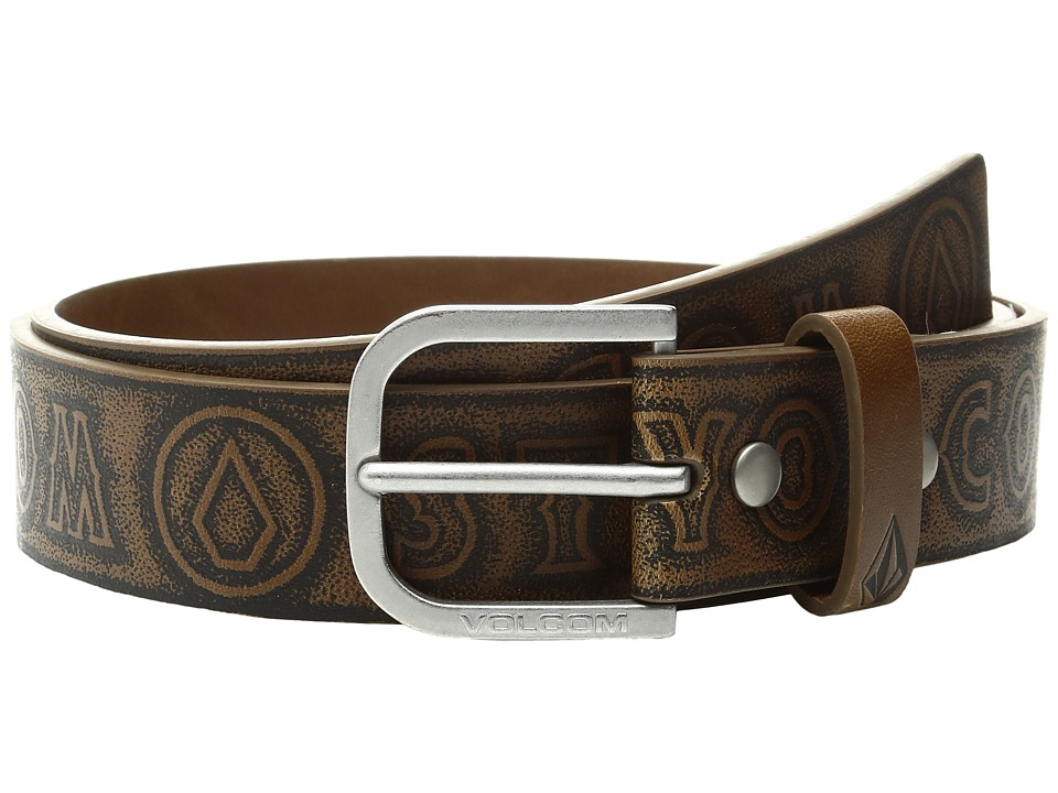 Volcom - Draft PU (Dark Chocolate) Men's Belts