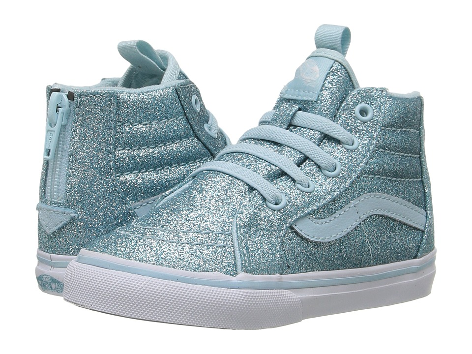 Vans Kids - Sk8-Hi Zip (Toddler) ((Shimmer) Blue) Girls Shoes