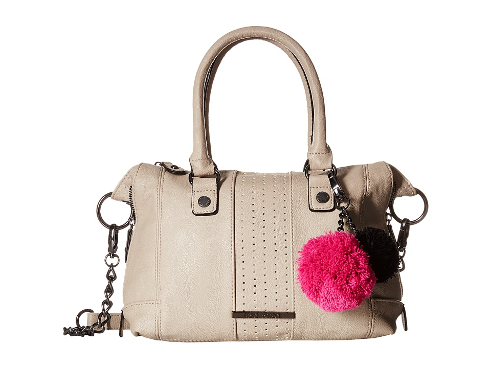Steve Madden - Mini Social with Pom Poms (Bisque) Satchel Handbags