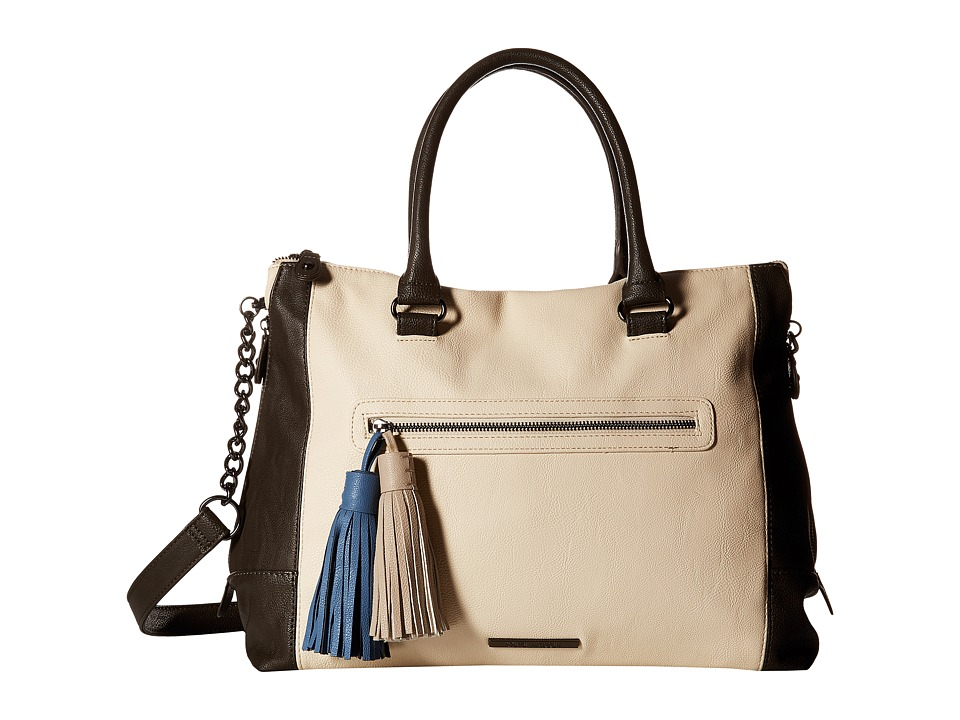 Steve Madden - Bsocial with Tassels (Bone/Slate) Satchel Handbags
