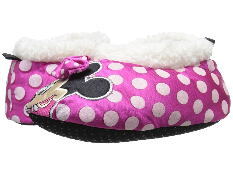 Josmo Kids - Minnie Mouse Slipper (Toddler/Little Kid) (Fuchsia/Polka Dot) Girls Shoes