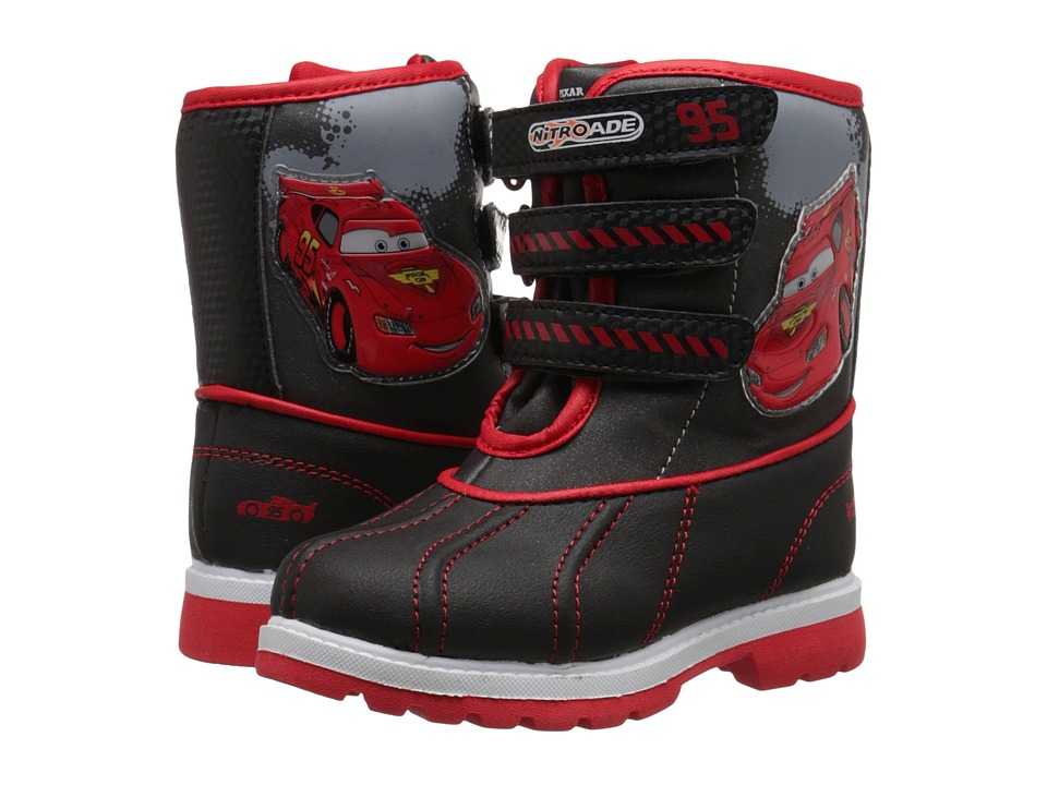 Josmo Kids - Cars Snow Boots (Toddler/Little Kid) (Black/Red) Boys Shoes