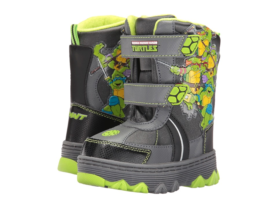 Josmo Kids - Ninja Turtle Snow Boots (Toddler/Little Kid) (Grey/Green) Boys Shoes