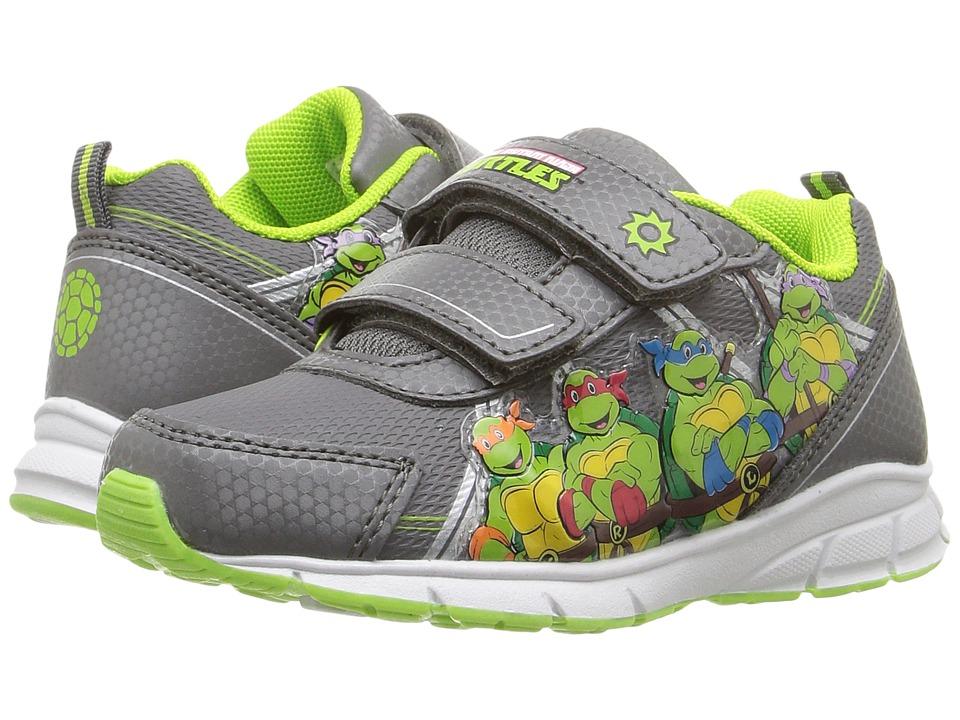 Josmo Kids - Ninja Turtle Lighted Sneakers (Toddler/Little Kid) (Grey/Green) Boys Shoes