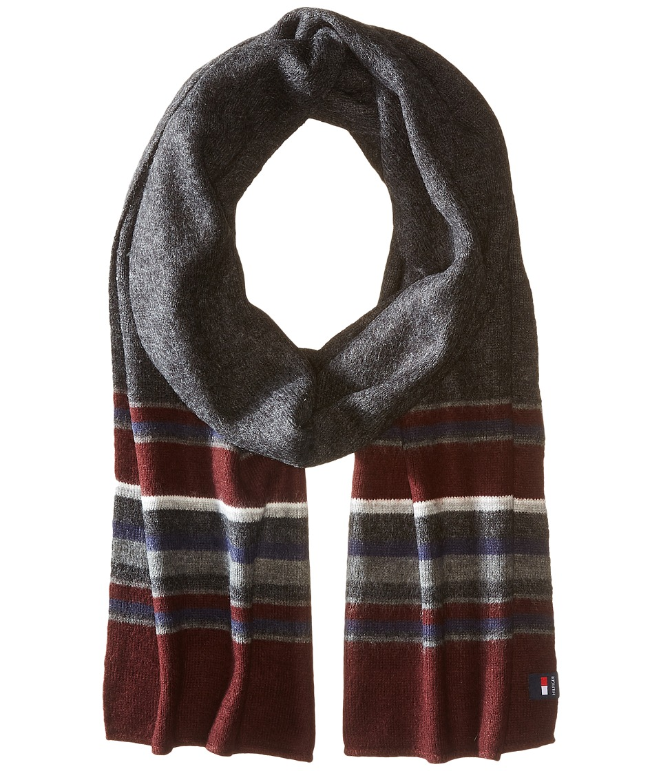 Tommy Hilfiger - New American Stripe (Burgundy) Scarves