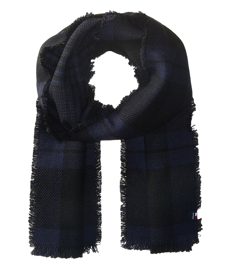 Tommy Hilfiger - Bi Color Reversible Houndstooth Tartan (Navy) Scarves