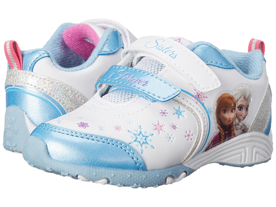 Josmo Kids Frozen Lighted Sneaker (Toddler/Little Kid) (Blue/White) Girls Shoes