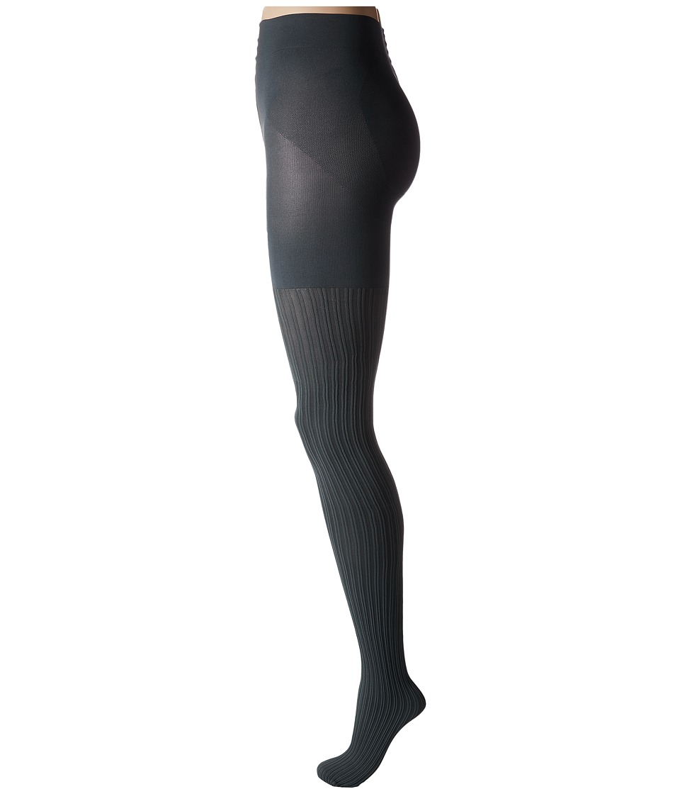 HUE - Double Rib Shaping Tights (Thunder) Hose