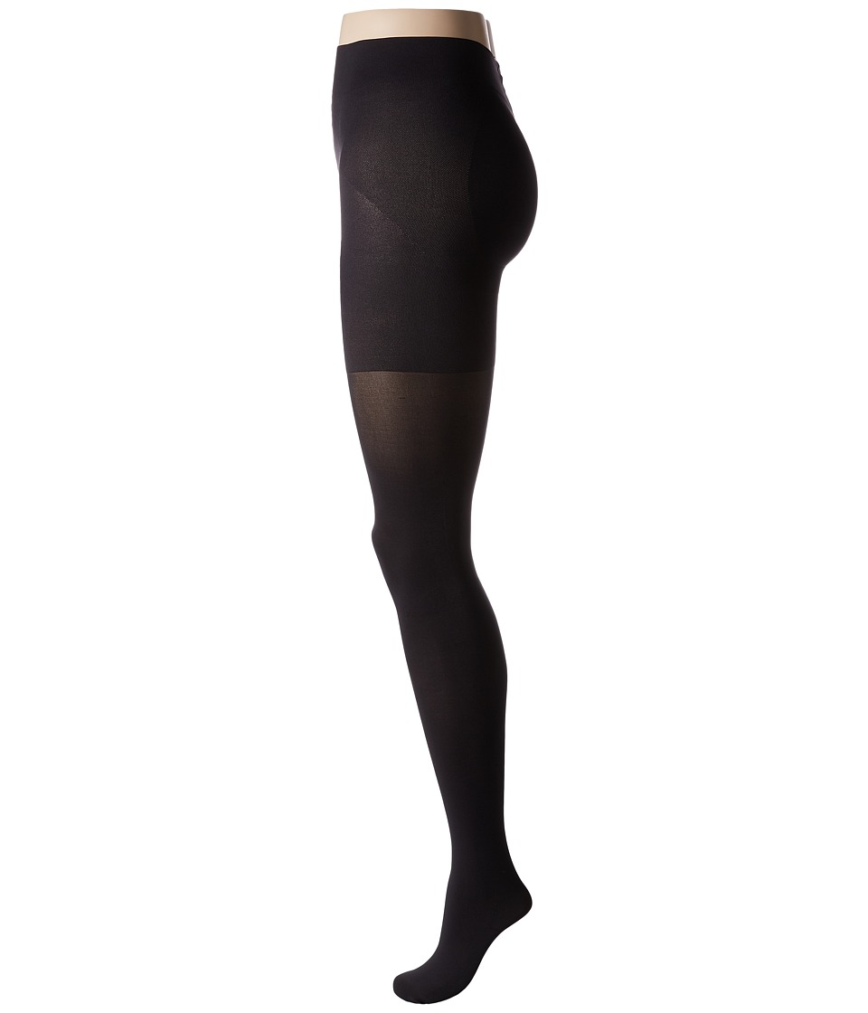 HUE - Shaping Tights 60D (Almost Black) Control Top Hose