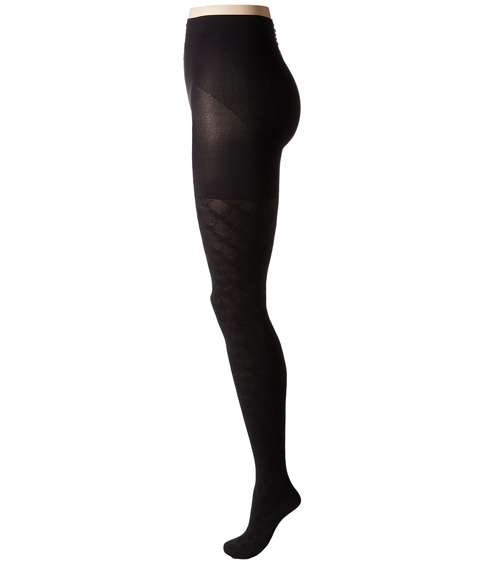 HUE - Diamond Weave Shaping Tights (Black) Hose