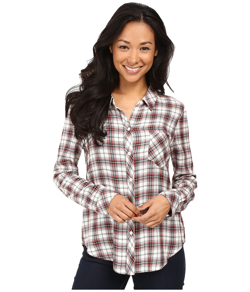 Sanctuary - Tailored Boyfriend Shirt w/ Single Pocket (Lucien Plaid) Women's Blouse