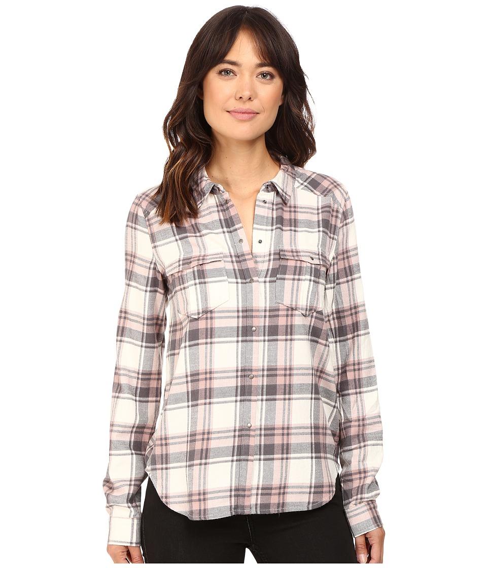 Paige - Mya Shirt (White/Grey/Adobe Rose) Women's Clothing