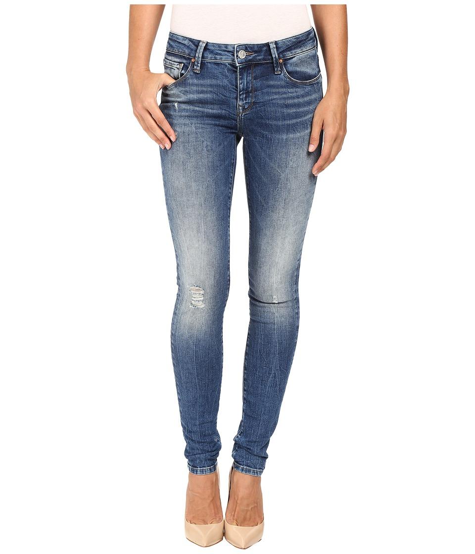Mavi Jeans Adriana Mid-Rise Super Skinny in Mid Destructed Vintage (Mid Destructed Vintage) Women