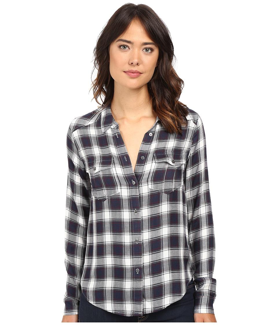 Paige - Mya Shirt (Dark Ink Blue/White/Syrah) Women's Clothing