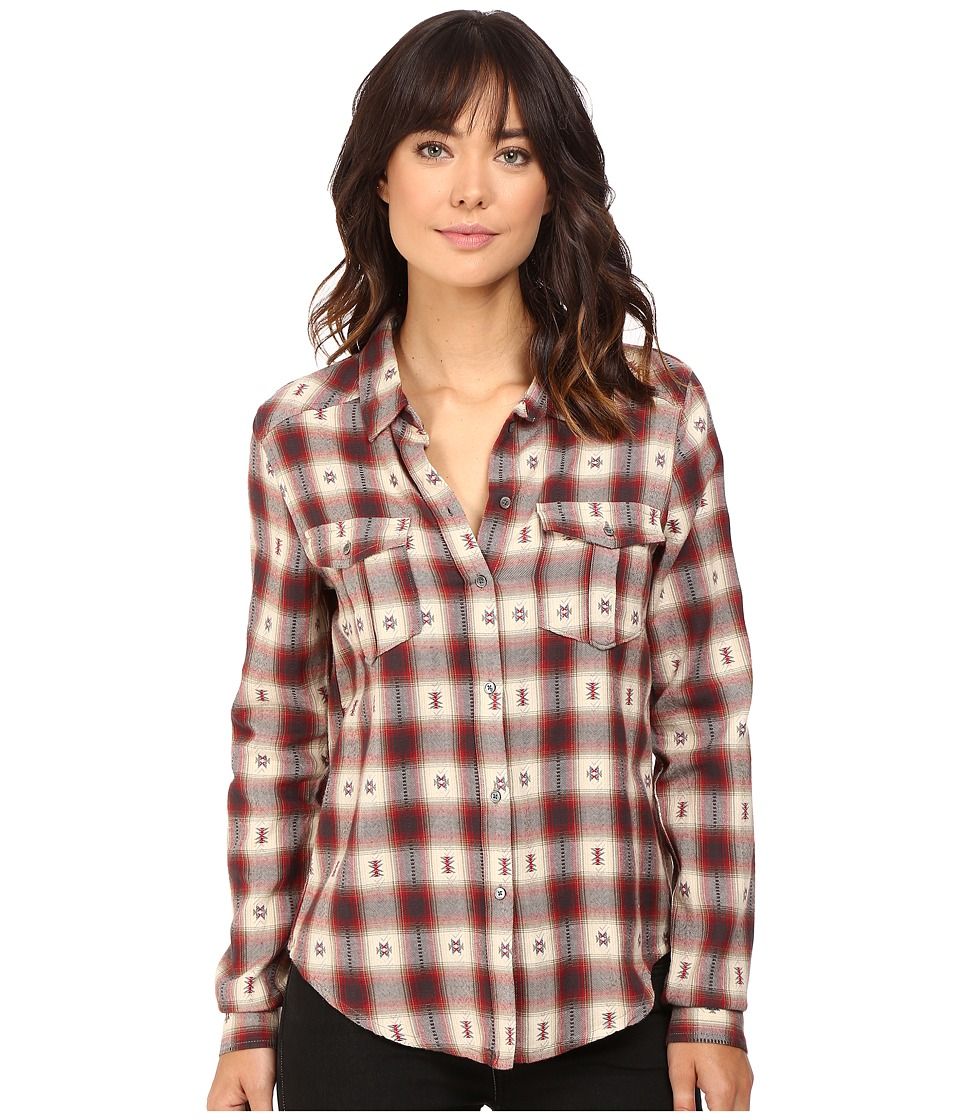 Paige - Mya Shirt (Dusty Brown/Scarlet) Women's Clothing