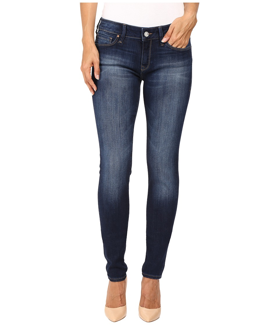 Mavi Jeans Adriana Mid-Rise Super Skinny in Indigo Tribeca (Indigo Tribeca) Women