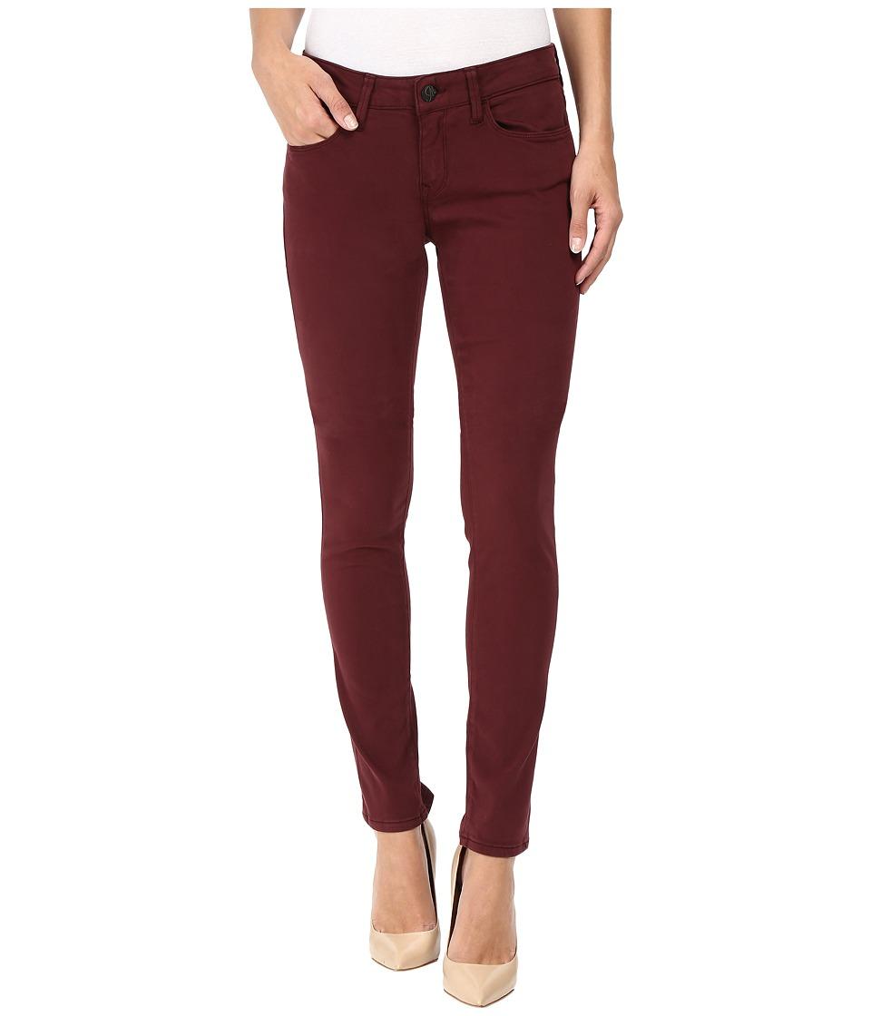Mavi Jeans Alexa Mid-Rise Skinny in Burgundy Sateen Twill (Burgundy Sateen Twill) Women