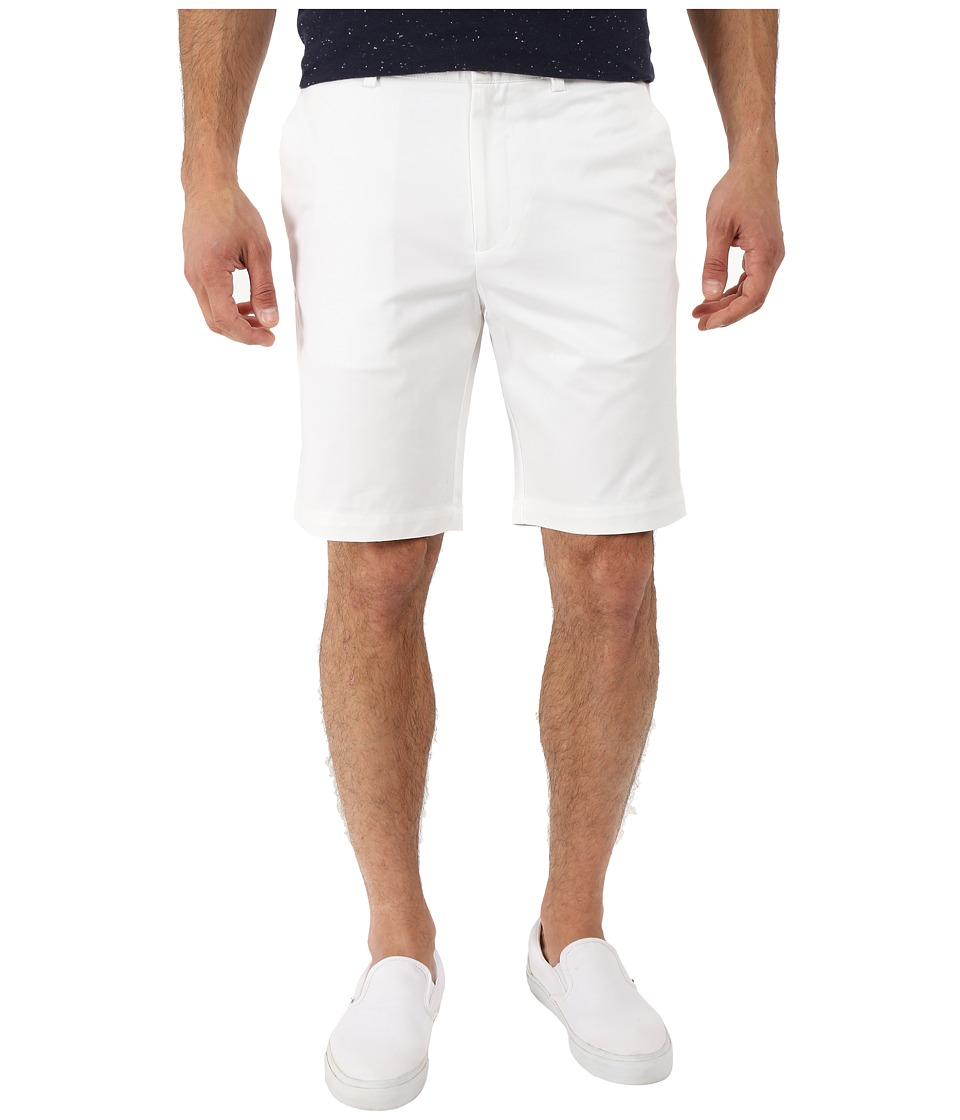 Perry Ellis - Slim Fit Twill Shorts (Bright White) Men's Shorts