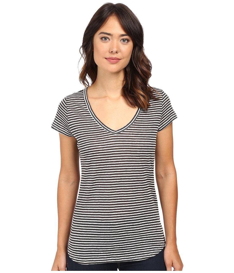 Paige - Lynnea No Pocket Tee (Phantom/White Stripe) Women's T Shirt