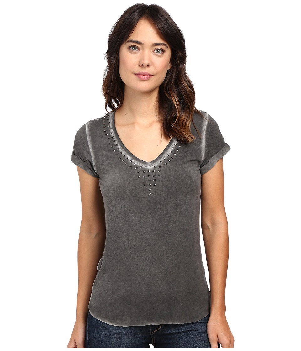 Paige - Charlie Tee w/ Studs (Vintage Black) Women's T Shirt