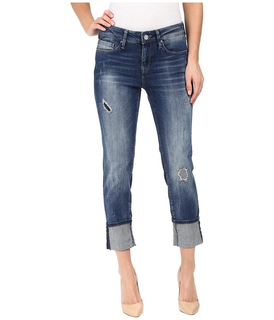 Mavi Jeans Ada Relaxed Boyfriend in Dark Patched Vintage (Dark Patched Vintage) Women