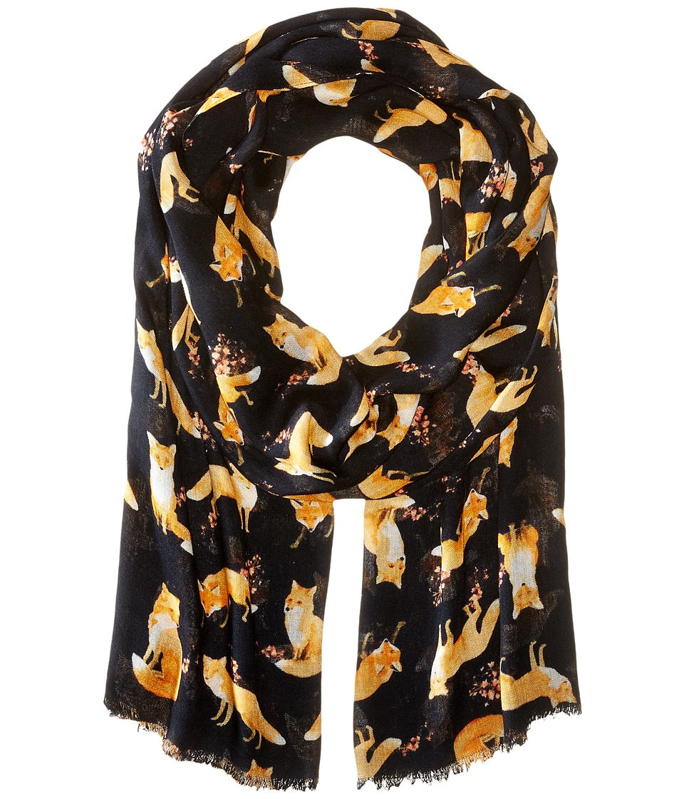 Bindya - All Over Fox (Black) Scarves