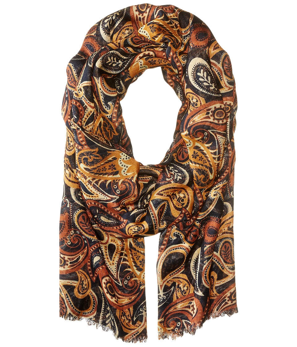 Bindya - Paisley Floral (Brown Multi) Scarves