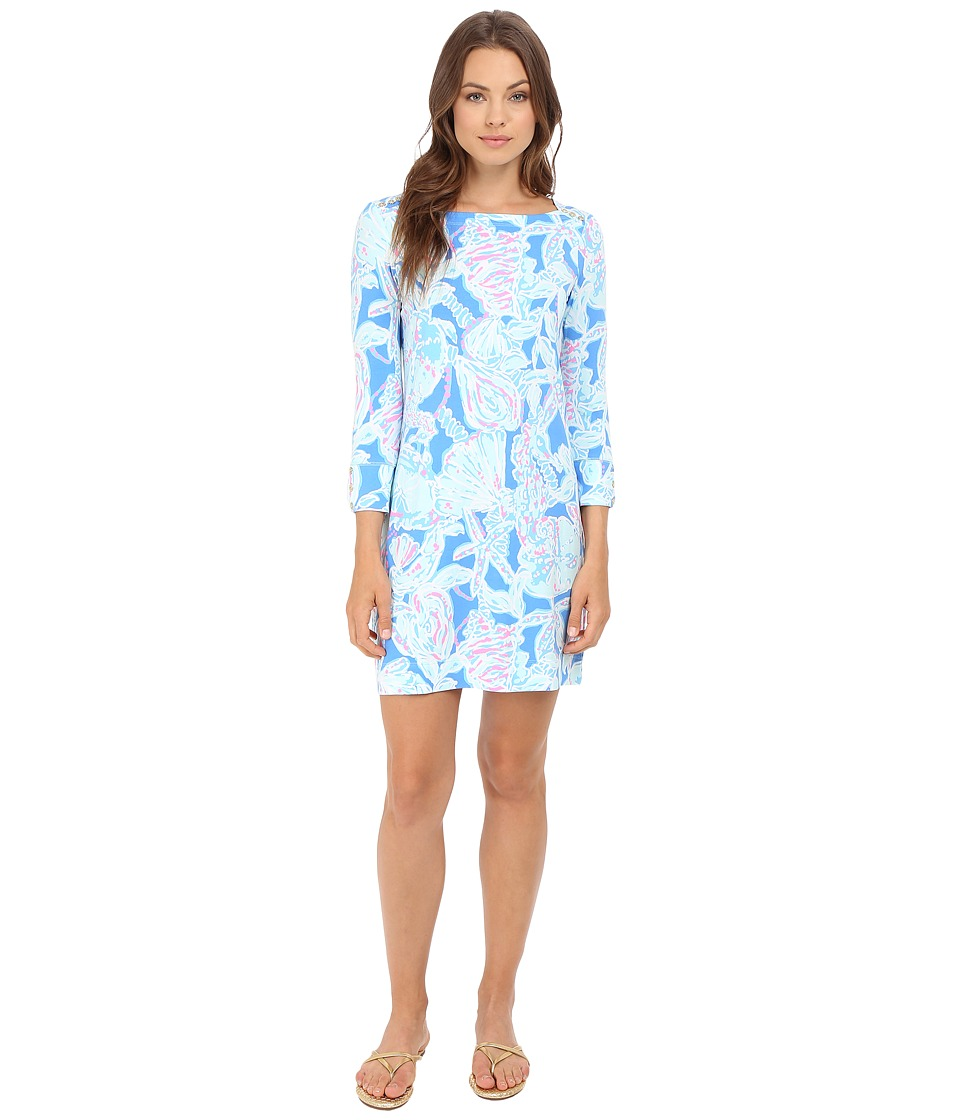 Lilly Pulitzer - UPF 50+ Sophie Dress (Bay Blue Into The Deep) Women's Dress