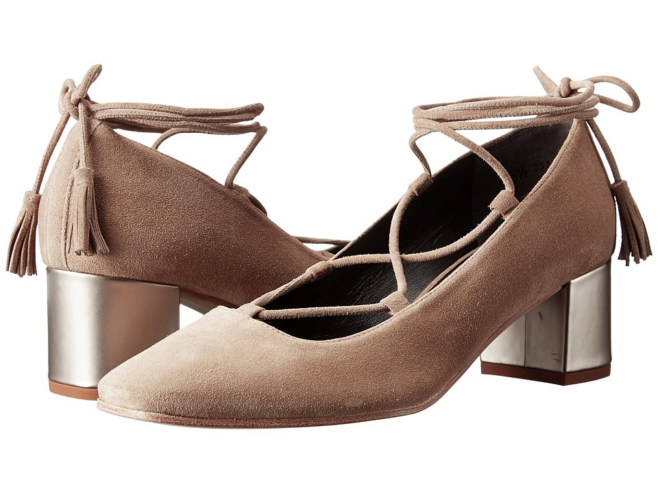 Kennel & Schmenger - Lace Front Pump (Biscuit/Ivory Suede) Women's Shoes