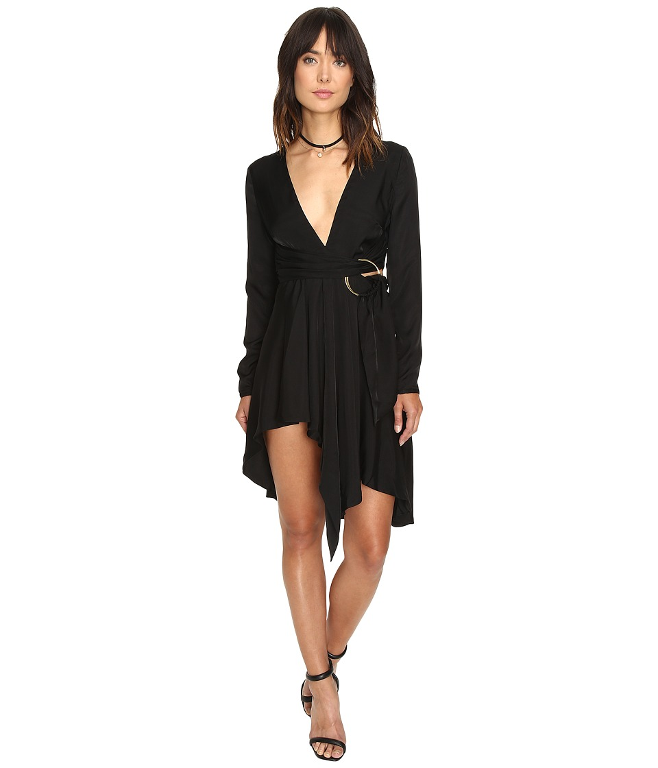 StyleStalker - Maia Long Sleeve Dress (Noir) Women's Dress