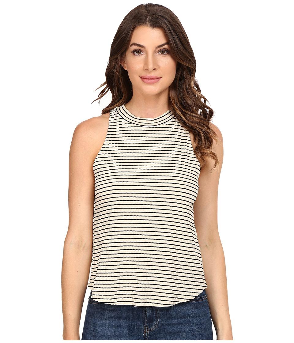 LNA - Twiggy Tank Top (Beige/Black Stripe) Women's Sleeveless