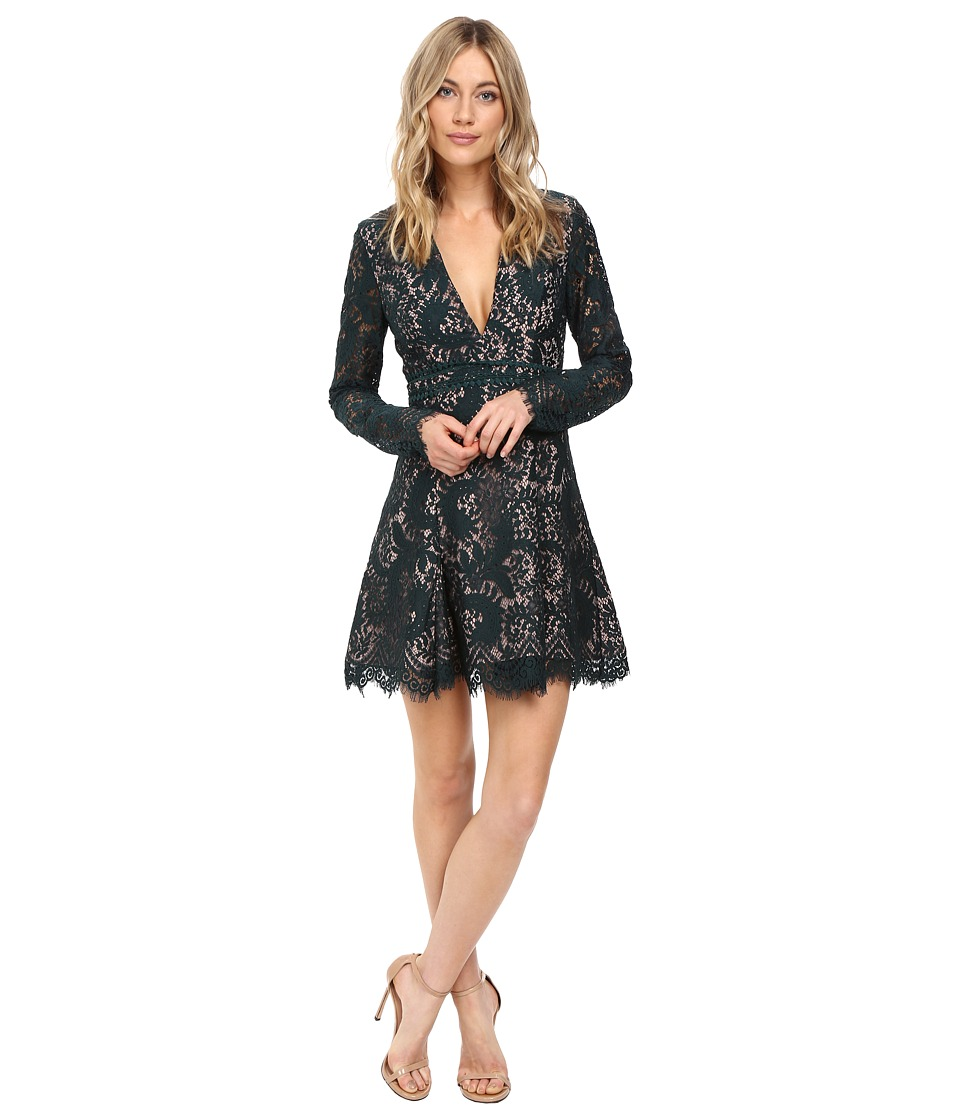 StyleStalker - Davis Long Sleeve Dress (Peacock) Women's Dress