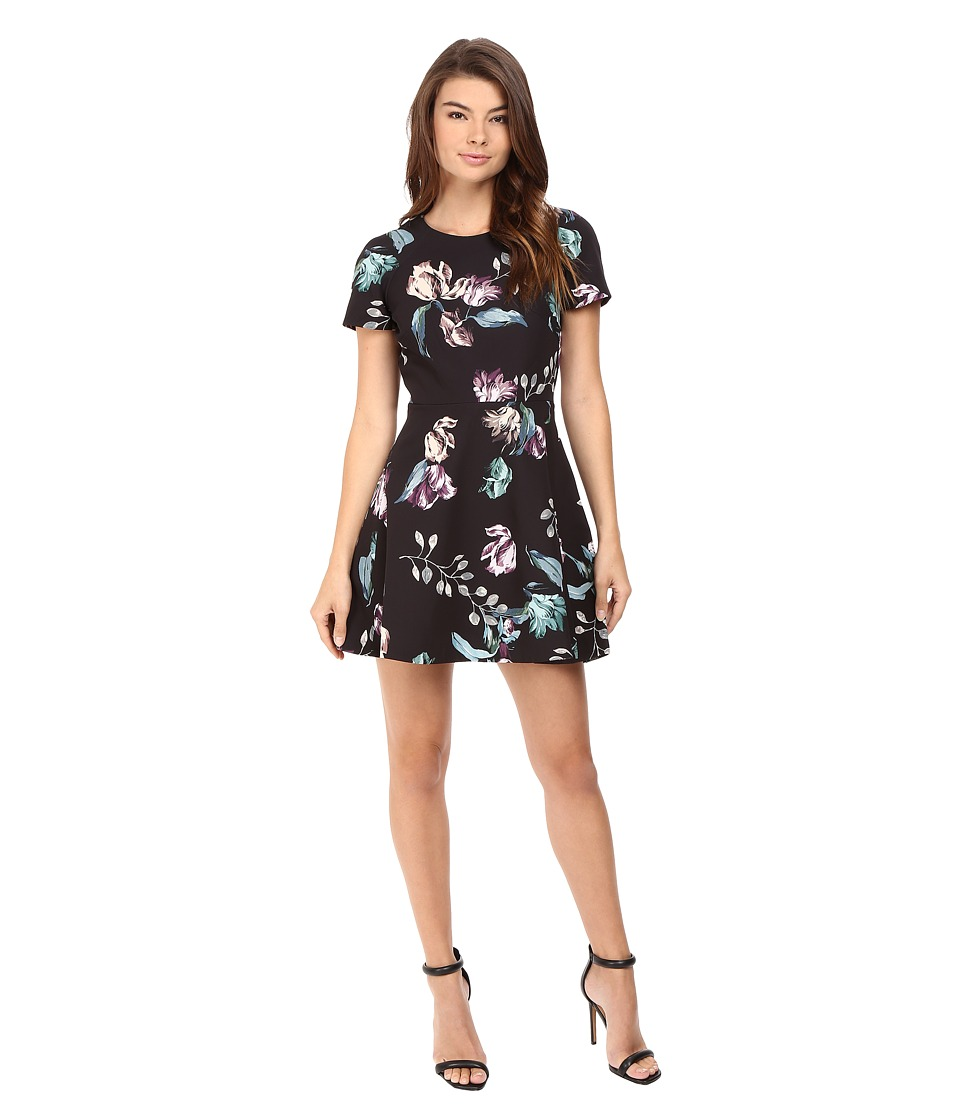 StyleStalker - Neve Short Sleeve Dress (Neve Floral) Women's Dress
