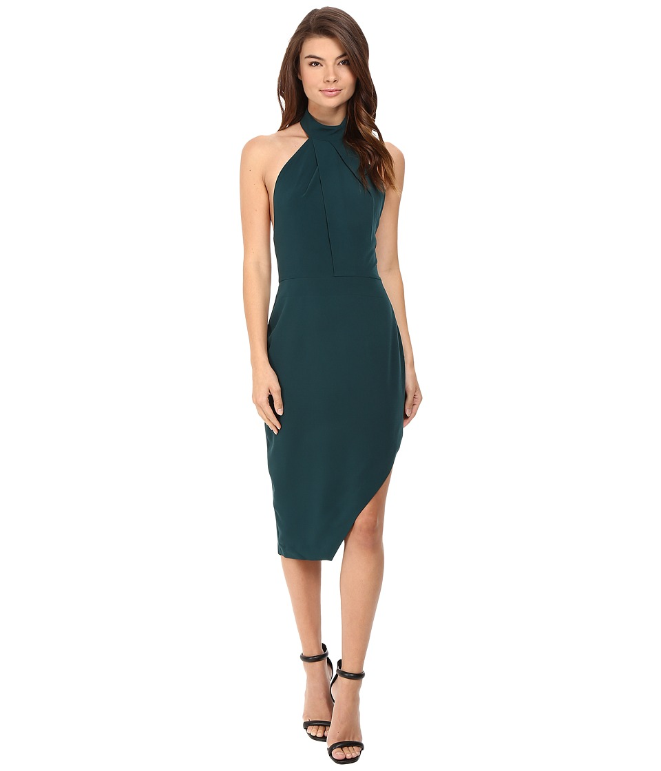 StyleStalker - Riscal Midi Dress (Peacock) Women's Dress