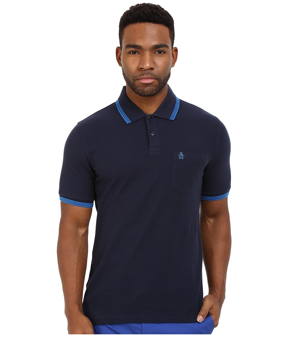 Original Penguin - Garment Dye Polo (Dark Sapphire) Men's Short Sleeve Knit