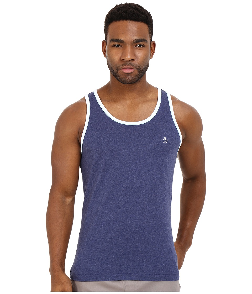 Original Penguin - Double Bound Earl Tank Top (Deep Cobalt) Men's Sleeveless
