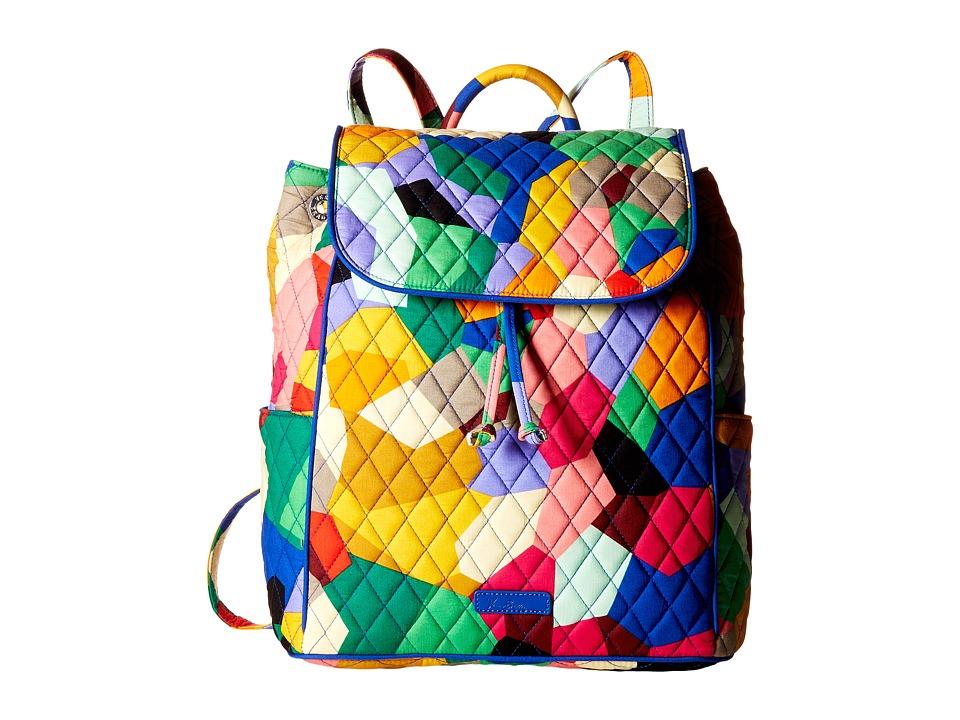 Vera Bradley - Drawstring Backpack (Pop Art) Backpack Bags