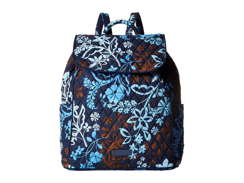 Vera Bradley - Drawstring Backpack (Java Floral) Backpack Bags