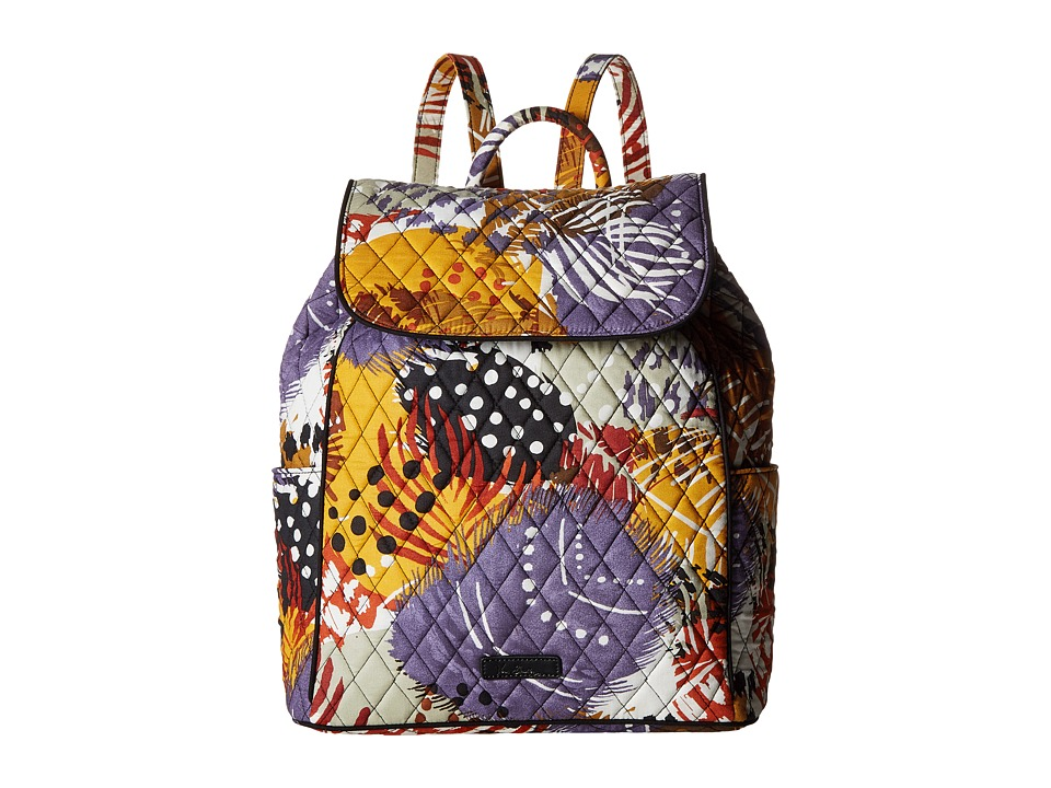 Vera Bradley - Drawstring Backpack (Painted Feathers) Backpack Bags