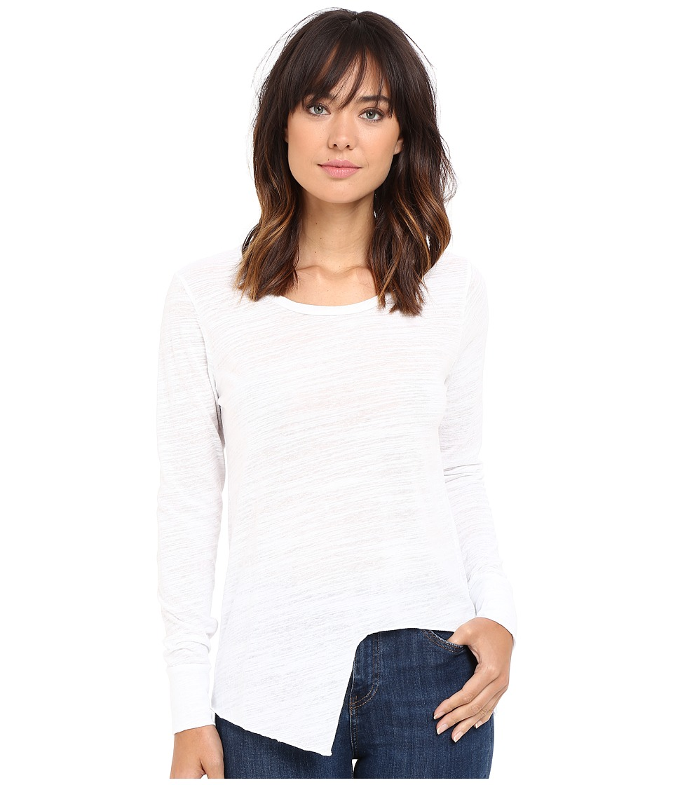 LNA - Uneven Marrow Long Sleeve (White) Women's Long Sleeve Pullover