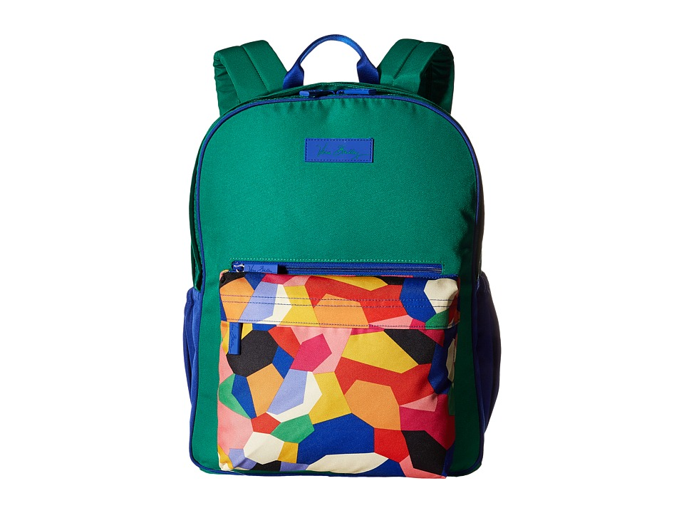 Vera Bradley - Large Color Block Backpack (Pop Art) Backpack Bags