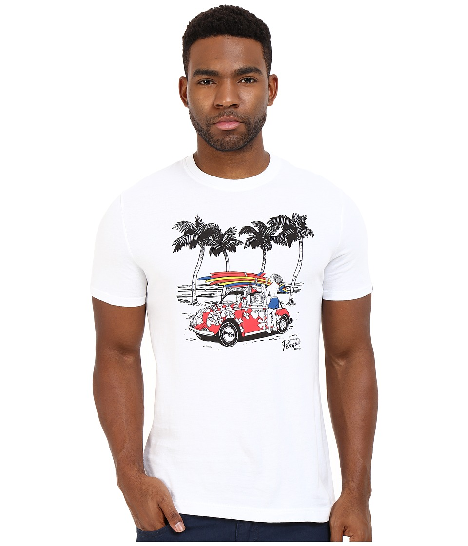 Original Penguin - Short Sleeve Beach Buggy Tee (Bright White) Men's T Shirt