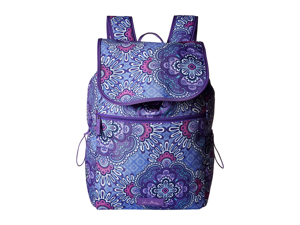 Vera Bradley - Lighten Up Drawstring Backpack (Lilac Tapestry) Backpack Bags