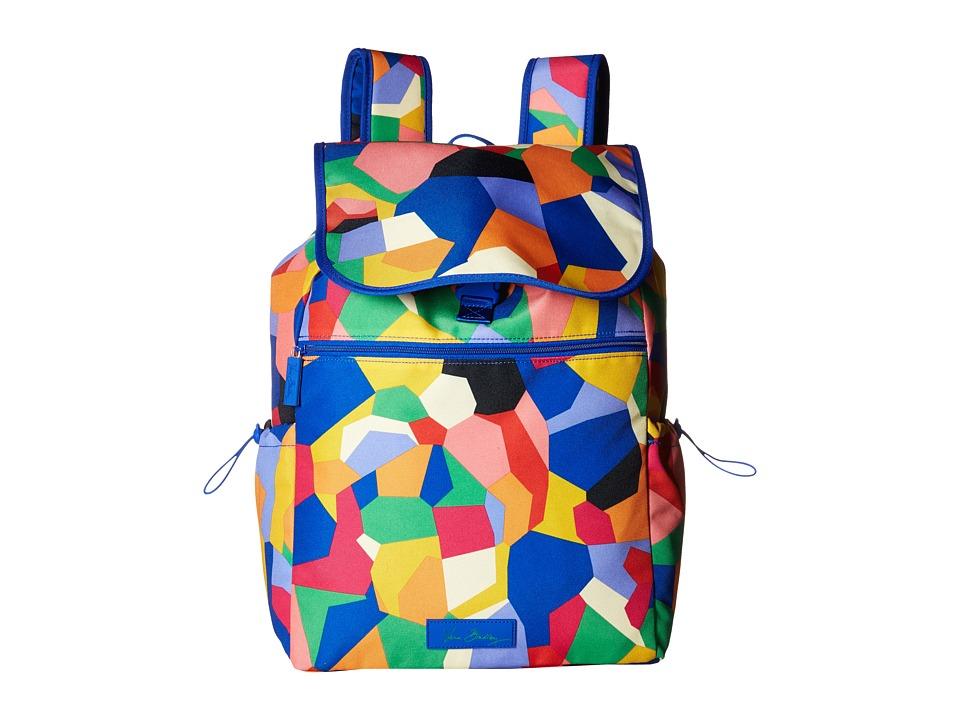 Vera Bradley - Lighten Up Drawstring Backpack (Pop Art) Backpack Bags