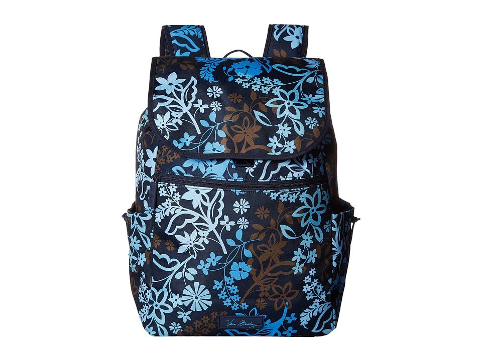 Vera Bradley - Lighten Up Drawstring Backpack (Java Floral) Backpack Bags