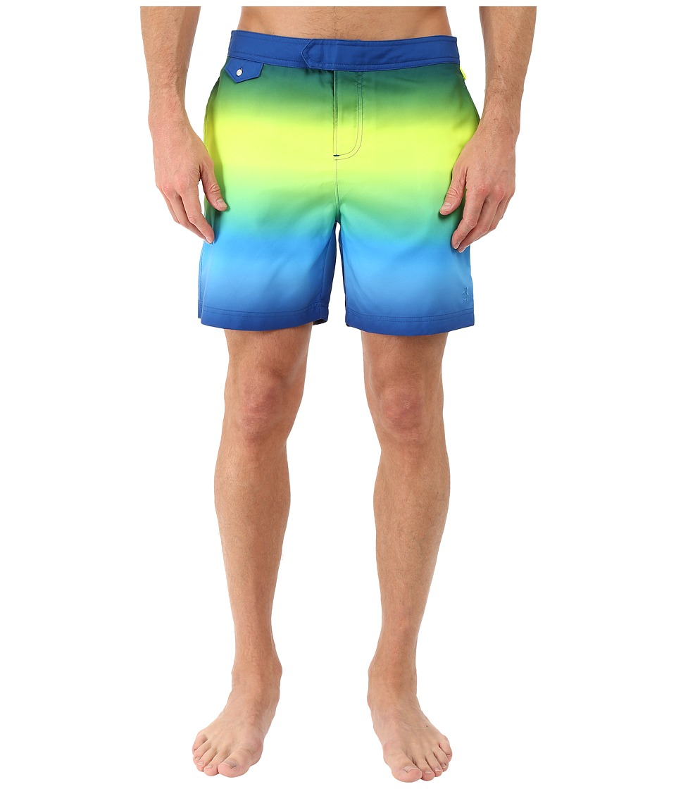Original Penguin Gradient Fixed Volley Swim Shorts (Deep Water) Men